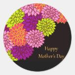 Día de madres feliz floral pegatinas