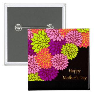 Día de madres feliz floral pin
