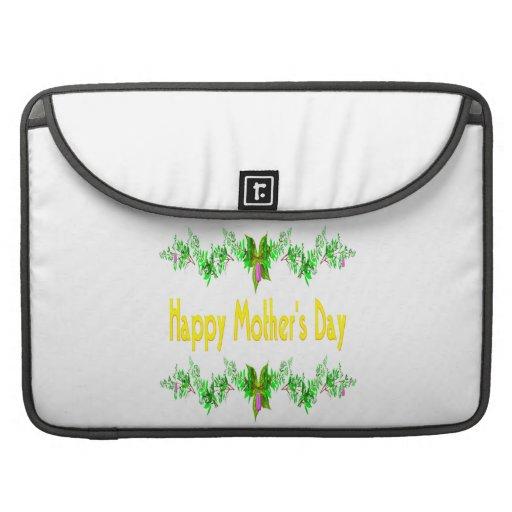 Día de madres feliz fundas para macbooks