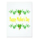 Día de madres feliz invitación 12,7 x 17,8 cm