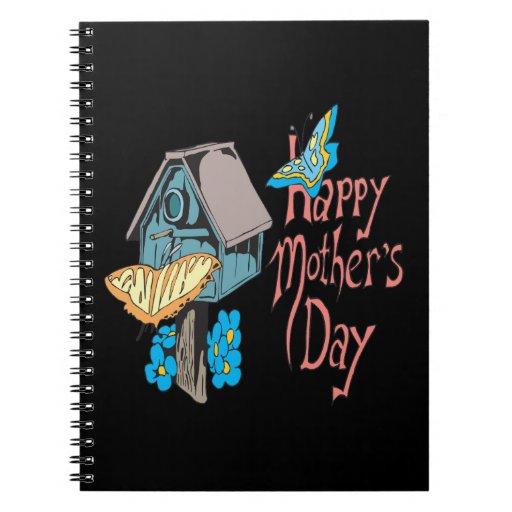 Día de madres feliz libro de apuntes con espiral