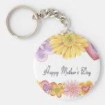 Día de madres feliz llavero redondo tipo pin