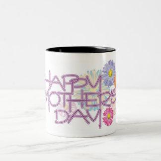 Día de madres feliz, madre día 12 de mayo de 2013 taza de café de dos colores