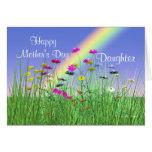 Día de madres feliz para las flores de la primaver felicitación