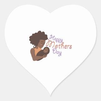 Día de madres feliz pegatina corazón