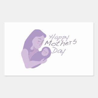 Día de madres feliz rectangular pegatinas