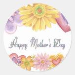 Día de madres feliz pegatina redonda