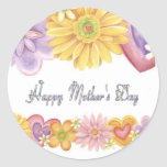 Día de madres feliz pegatinas redondas