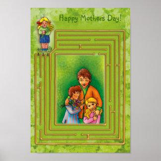 ¡Día de madres feliz! Plantilla del poster