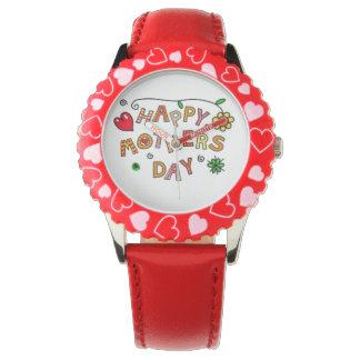 Día de madres feliz reloj de mano