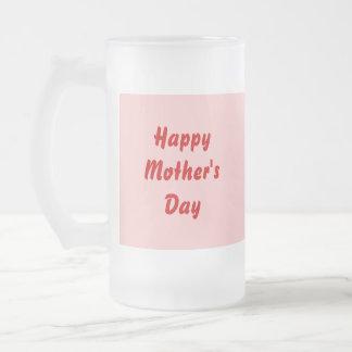 Día de madres feliz. Rojo y rosa. Personalizado Taza De Cristal