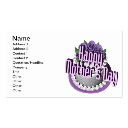 Día de madres feliz plantillas de tarjeta de negocio