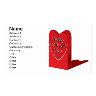 Día de madres feliz tarjetas de visita