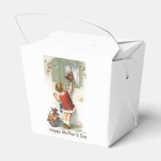 Día de madres feliz - vintage caja para regalo de boda