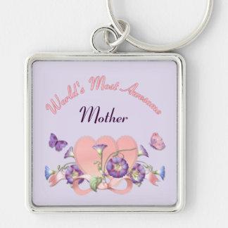 Día de madres floral de la correhuela llavero