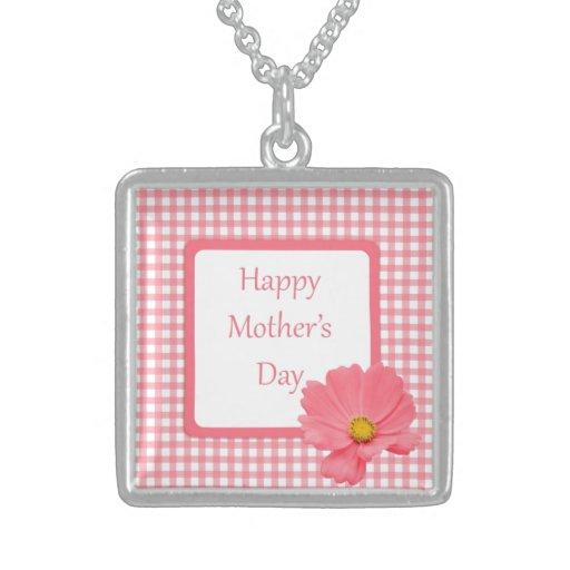 Día de madres floral del control rosado colgante cuadrado