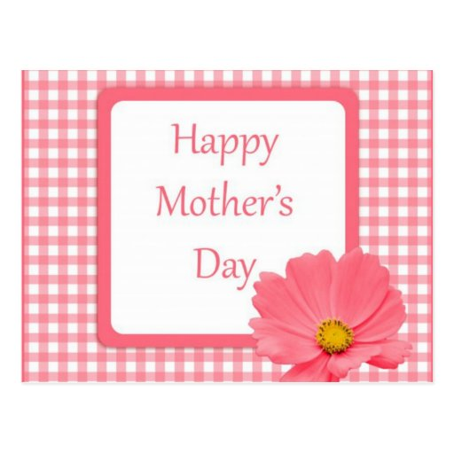 Día de madres floral del control rosado postales