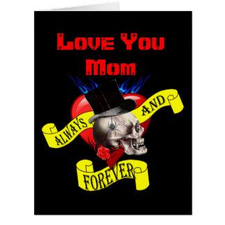 Día de madres gótico romántico del tatuaje tarjeta de felicitación grande