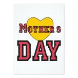Día de madres invitación 12,7 x 17,8 cm