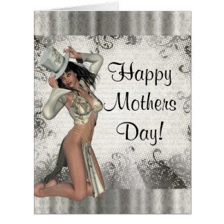 Día de madres moderno del corista tarjeta de felicitación grande