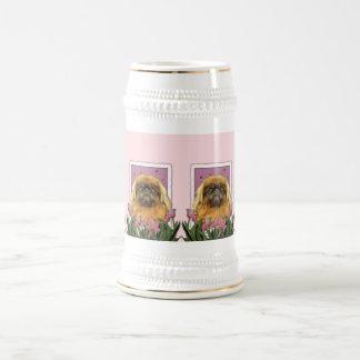 Día de madres - Pekingese - guijarros Jarra De Cerveza