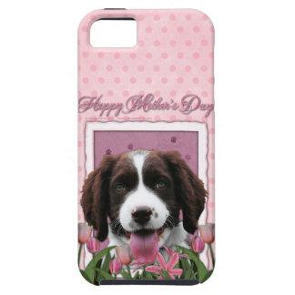 Día de madres - perro de aguas de saltador inglés funda para iPhone SE/5/5s