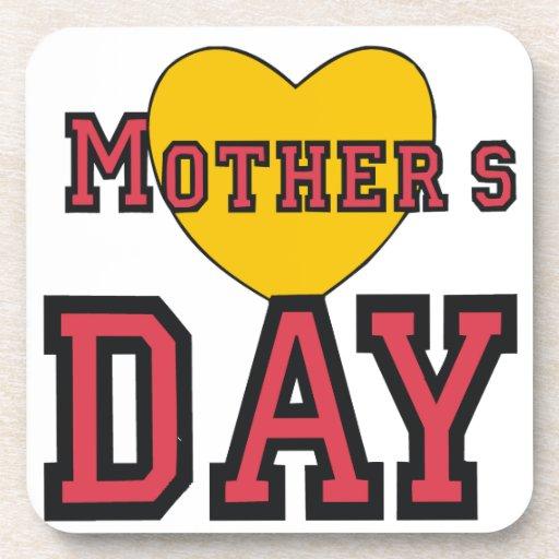 Día de madres posavasos de bebidas