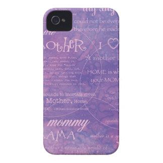 día de madres púrpura Case-Mate iPhone 4 fundas