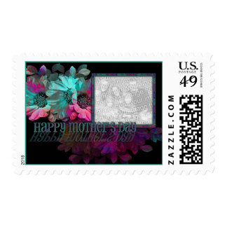 Día de madres - reflexión floral timbre postal