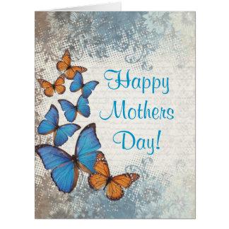 Día de madres romántico de la mariposa tarjeta de felicitación grande