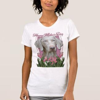 Día de madres - rosa - tulipanes - Weimeraner - T-shirt