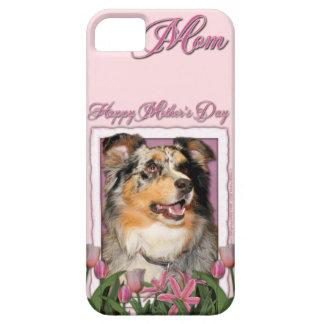 Día de madres - tulipanes rosados - Aussie - Funda Para iPhone 5 Barely There