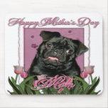 Día de madres - tulipanes rosados - barro amasado  alfombrillas de ratón
