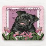 Día de madres - tulipanes rosados - barro amasado  alfombrillas de raton