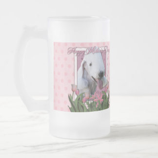 Día de madres - tulipanes rosados - Bedlington Taza De Cristal