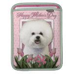 Día de madres - tulipanes rosados - Bichon Frise Funda Para iPads