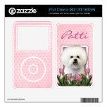 Día de madres - tulipanes rosados - Bichon Frise Skin Para El iPod