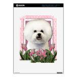 Día de madres - tulipanes rosados - Bichon Frise iPad 3 Pegatina Skin