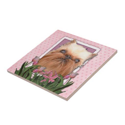 Día de madres - tulipanes rosados - Bruselas Griff Azulejos Ceramicos