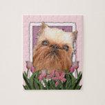 Día de madres - tulipanes rosados - Bruselas Griff Puzzle Con Fotos