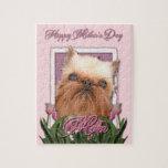 Día de madres - tulipanes rosados - Bruselas Griff Rompecabezas