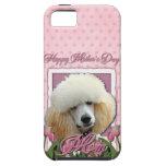Día de madres - tulipanes rosados - caniche - alba iPhone 5 protectores