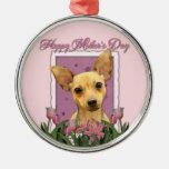 Día de madres - tulipanes rosados - chihuahua ornamentos de reyes