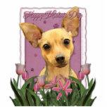 Día de madres - tulipanes rosados - chihuahua escultura fotográfica