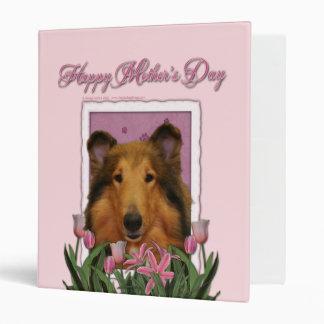 "Día de madres - tulipanes rosados - collie - Natal Carpeta 1"""