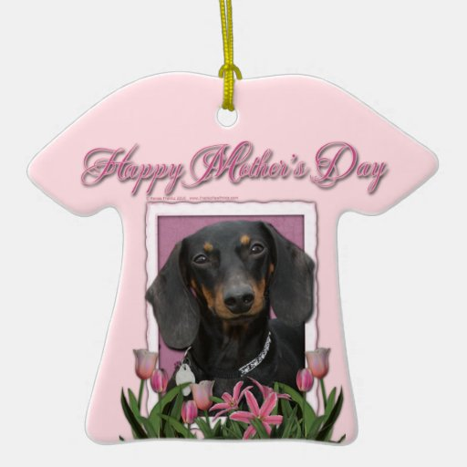 Día de madres - tulipanes rosados - Dachshund - Ornamento De Reyes Magos
