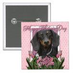 Día de madres - tulipanes rosados - Dachshund - Wi Pins