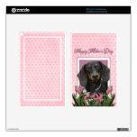Día de madres - tulipanes rosados - Dachshund - Wi Pegatinas Skins Para Kindle Fire