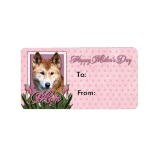 Día de madres - tulipanes rosados - Dingo Etiqueta De Dirección