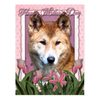 Día de madres - tulipanes rosados - Dingo Postal